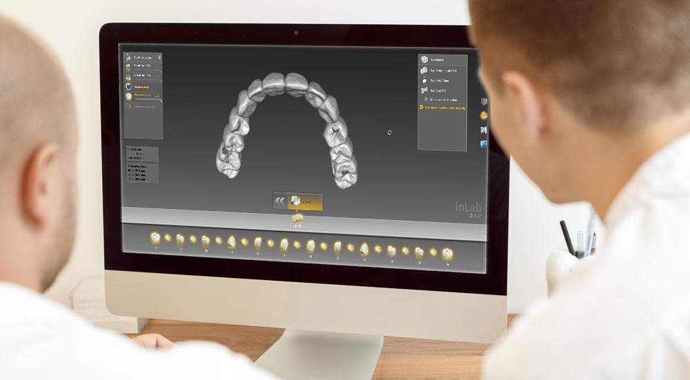 Digitales Zahntechniklabor mit Hilfestellung und Beratung
